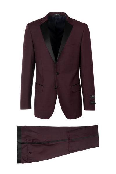 Sienna Slim Fit Tuxedo by Tiglio Luxe Burgundy