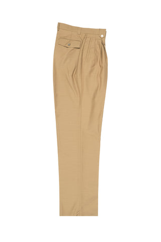 Camel Wide Leg, Wool Dress Pant 2586/2576 by Tiglio Luxe