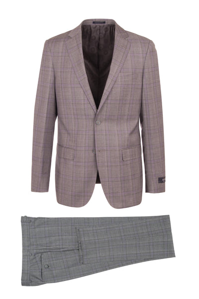 DOLCETTO Modern Fit, Pure Wool Suit CR141607/5 REDA Cloth by Canaletto Menswear