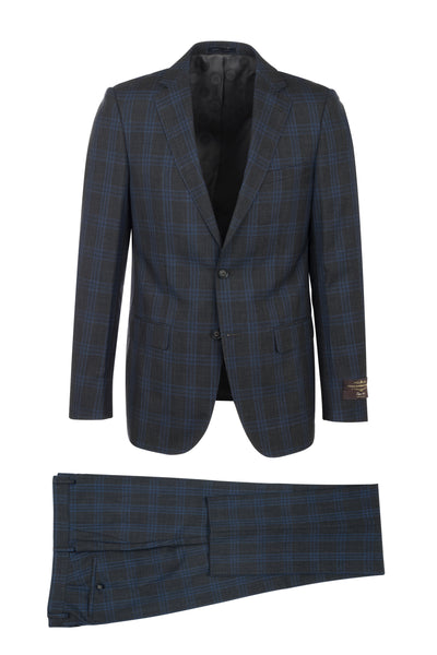 DOLCETTO Modern Fit, Pure Wool Suit CV40.7124/1 VITALE BARBERIS CANONICO Cloth by Canaletto Menswear