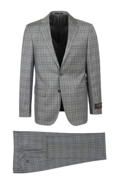 Porto Slim Fit, Pure Wool Suit CV86.7634/2 VITALE BARBERIS CANONICO Cloth by Canaletto Menswear