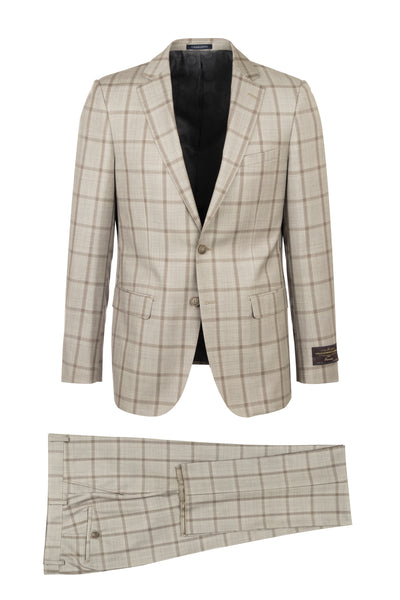 DOLCETTO Modern Fit, Pure Wool Suit CV86.7656/1 VITALE BARBERIS CANONICO Cloth by Canaletto Menswear