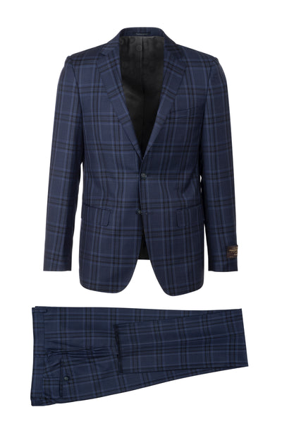 Porto Slim Fit, Pure Wool Suit CV86.7651/2 VITALE BARBERIS CANONICO Cloth by Canaletto Menswear