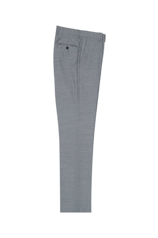 Light Gray Flat Front Wool Dress Pant 2560 by Tiglio Luxe E09063/26