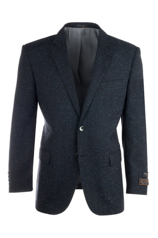 Novello Navy, Modern Fit, Pure Wool Jacket by Tiglio Luxe FJ8031/1
