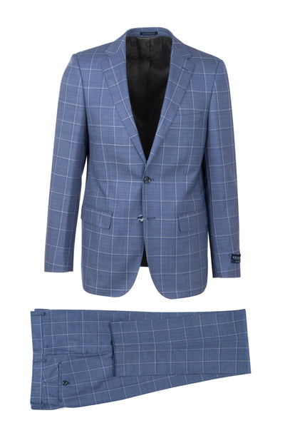 Porto Slim Fit, Pure Wool Suit LG8878F/435/1 GUABELLO Cloth by Canaletto Menswear