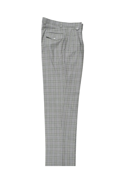 Gray Houndstoth Design with purple windopane, Wide Leg Wool Dress Pant 2586/2576 by Tiglio Luxe LR61002/3