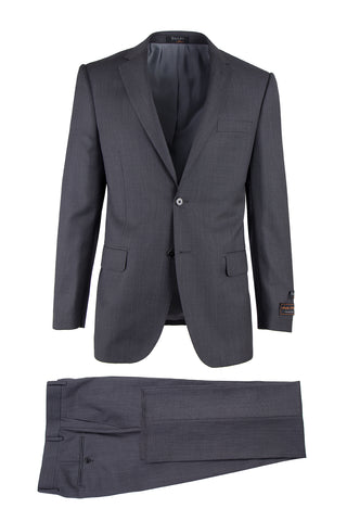 Novello Dark Gray Birdseye, Modern Fit, Pure Wool Suit by Tiglio Luxe IDM7018/4