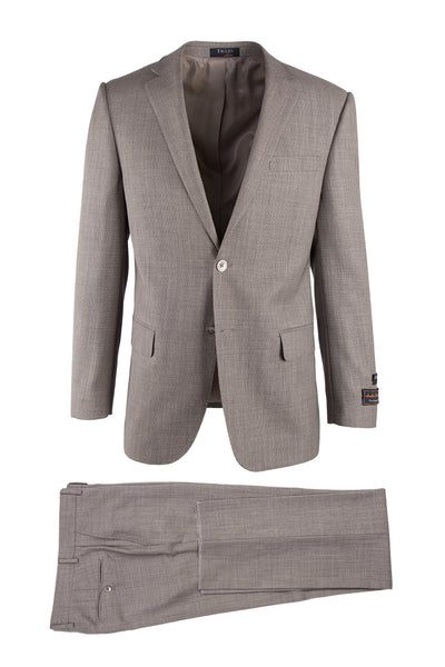 Novello Tan Birdseye, Modern Fit, Pure Wool Suit by Tiglio Luxe TIG1017