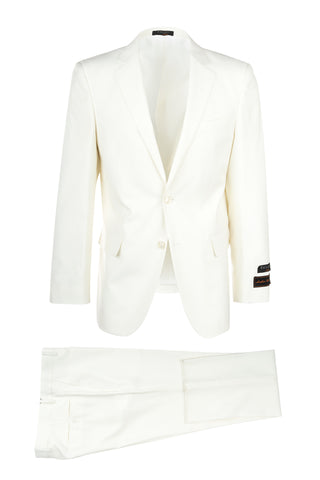 Novello Off-white, Modern Fit, Pure Wool Suit by Tiglio Luxe OFFWHITE