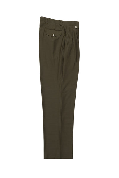 Olive Wide Leg Wool Dress Pant 2586/2576 by Tiglio Luxe