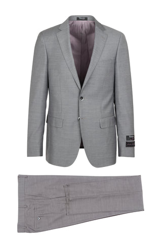 Porto Heather gray, Slim Fit, Pure Wool Suit by Tiglio Luxe - E09063/26