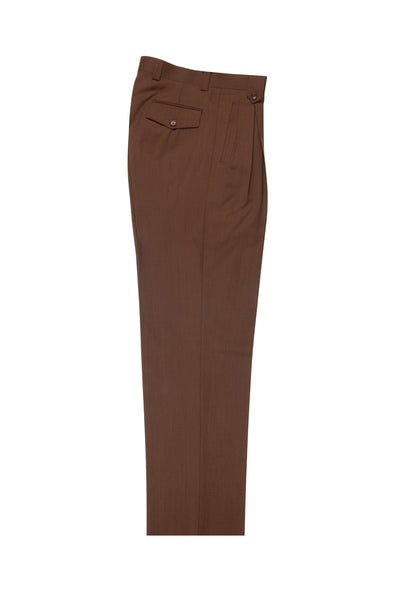 Brick, Wide Leg Wool Dress Pant 2586/2576 by Tiglio Luxe R899612/4503