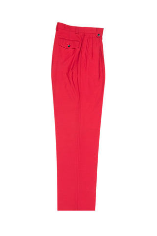 Red Wide Leg, Wool Dress Pant 2586/2576 by Tiglio Luxe