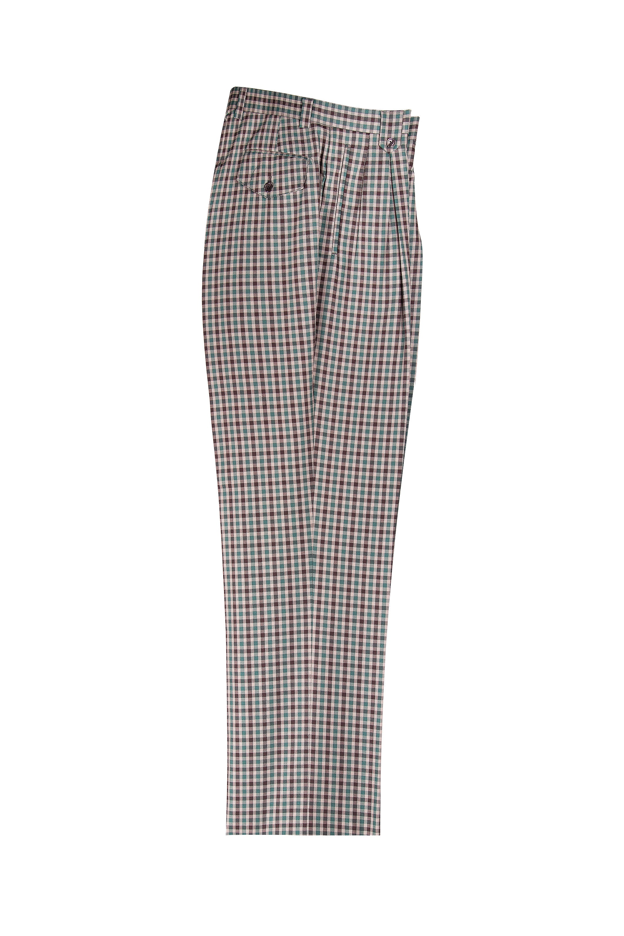 bbdd5e3749 ... Brown Check Pattern Wide Leg Wool Dress Pant 2586/2576 by. Tap to expand