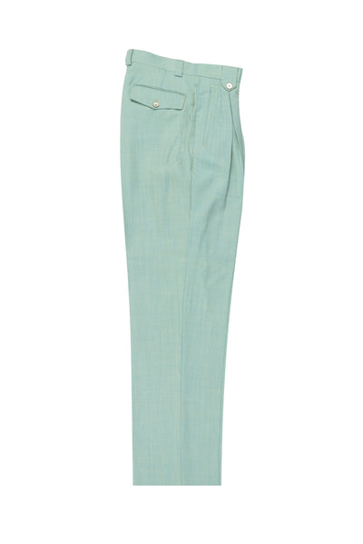 Mint Green, Wide Leg Wool Dress Pant 2586/2576 by Tiglio Luxe RS13005/1