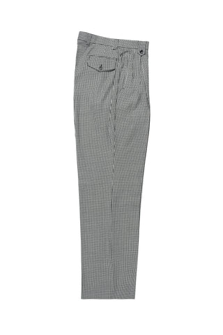 Black and White Check Wide Leg Wool Dress Pant 2586/2576 by Tiglio Luxe RS5224/1