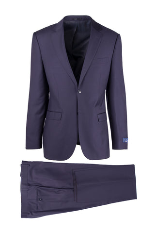 Sangria Modern Fit, Pure Wool Suit 1880U/0015, Ermenegildo Zegna Cloth by Canaletto Menswear