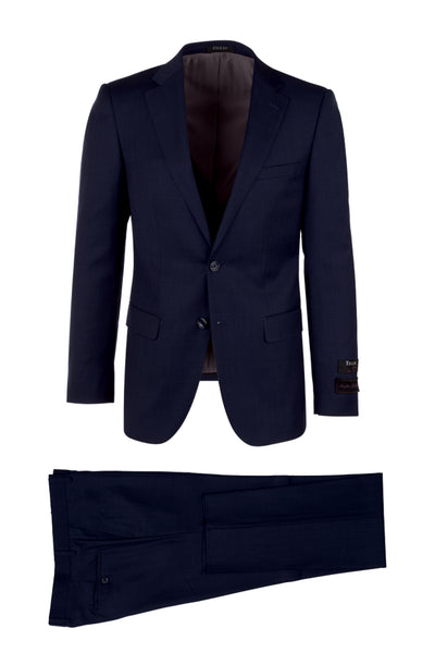 Porto, Slim Fit, Pure Wool Suit & Vest by Tiglio Luxe TIG 5966