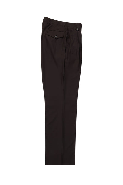Brown Wide Leg Wool Dress Pant 2586/2576 by Tiglio Luxe TIG1003