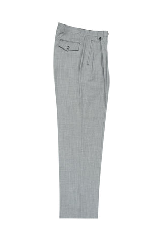 Light Gray Bridseye Wide Leg Wool Dress Pant 2586/2576 by Tiglio Luxe TIG1018