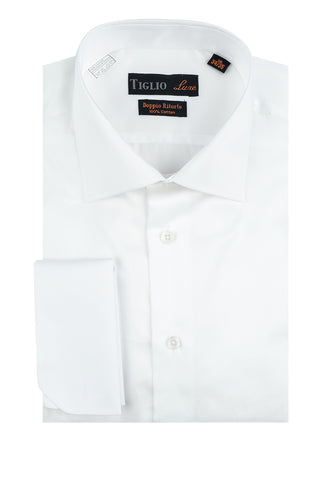 White Dress Shirt, French Cuff, by Tiglio