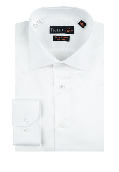 White Dress Shirt, Regular Cuff, by Tiglio Genova RC TIG3012