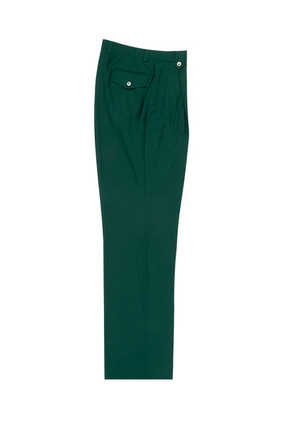 Forest Green Wide Leg, Wool Dress Pant 2586/2576 by Tiglio Luxe TIG4501