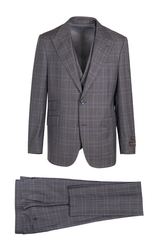 Prosecco Modern Fit, Pure Wool Suit & Vest by Tiglio Luxe TL4006/1