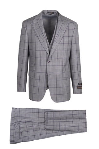 Prosecco Modern Fit, Pure Wool Suit & Vest by Tiglio Luxe TL4008/1
