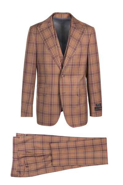 Prosecco Modern Fit, Pure Wool Suit & Vest by Tiglio Luxe TL4118/2