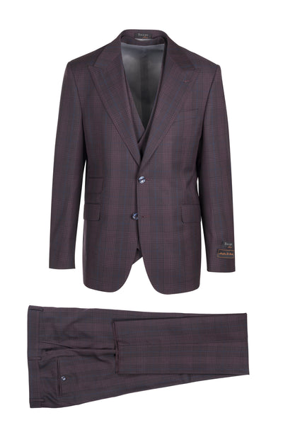 Prosecco Modern Fit, Pure Wool Suit & Vest by Tiglio Luxe TL4179/3