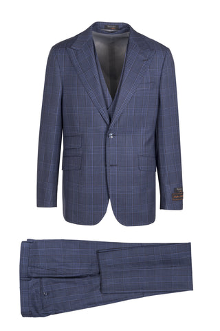 Prosecco Modern Fit, Pure Wool Suit & Vest by Tiglio Luxe TL4219/1