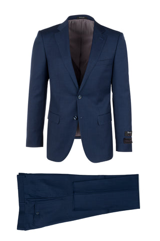 Porto Blue, Slim Fit, Pure Wool Suit & Vest by Tiglio Luxe TS 4066/2