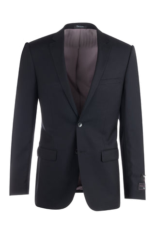 Sienna Black, Slim Fit, Pure Wool Jacket by Tiglio Luxe TS4132/1