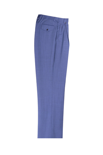 Blue Wide Leg Wool Dress Pant 2586/2576 by Tiglio Luxe TS6083/7