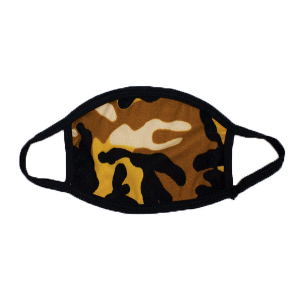 Yellow Camouflage Face Mask