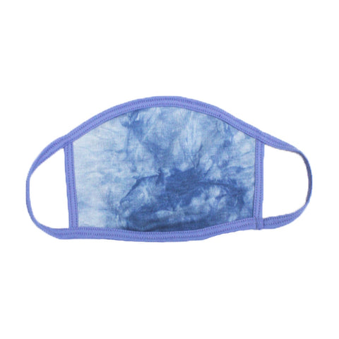 Sky Blue Tie-Dye Face Mask