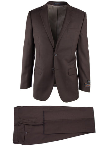 Novello Brown Birdseye, Modern Fit, Pure Wool Suit by Tiglio Luxe IDM7018/7