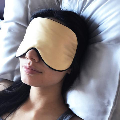 Silk Eye Mask Champagne