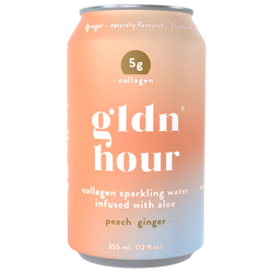 Collagen Sparkling Water Infused with Aloe - Peach Ginger