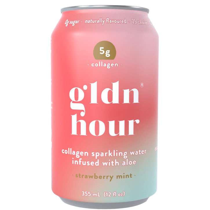 Collagen Sparkling Water Infused with Aloe - Strawberry Mint