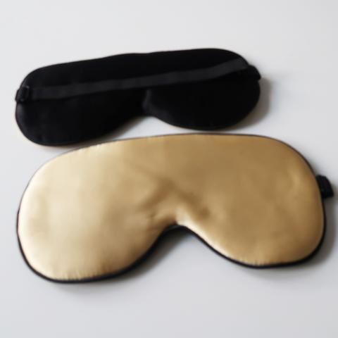 GingerChi Silk Eye Mask Luxurious Anti-Aging Tool CHAMPAGNE