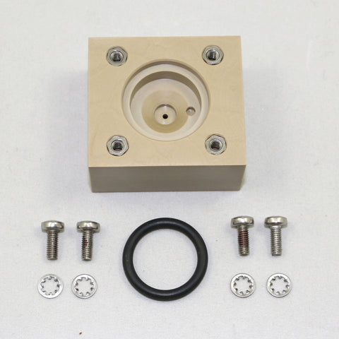 PEEK Injection Block and O-ring Assembly