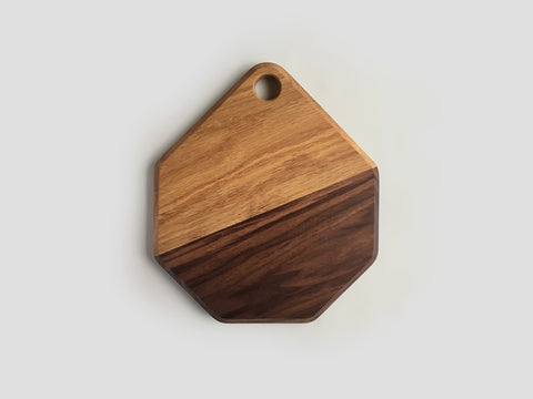 HEWN Walnut and White Oak Duo Serving Board Small