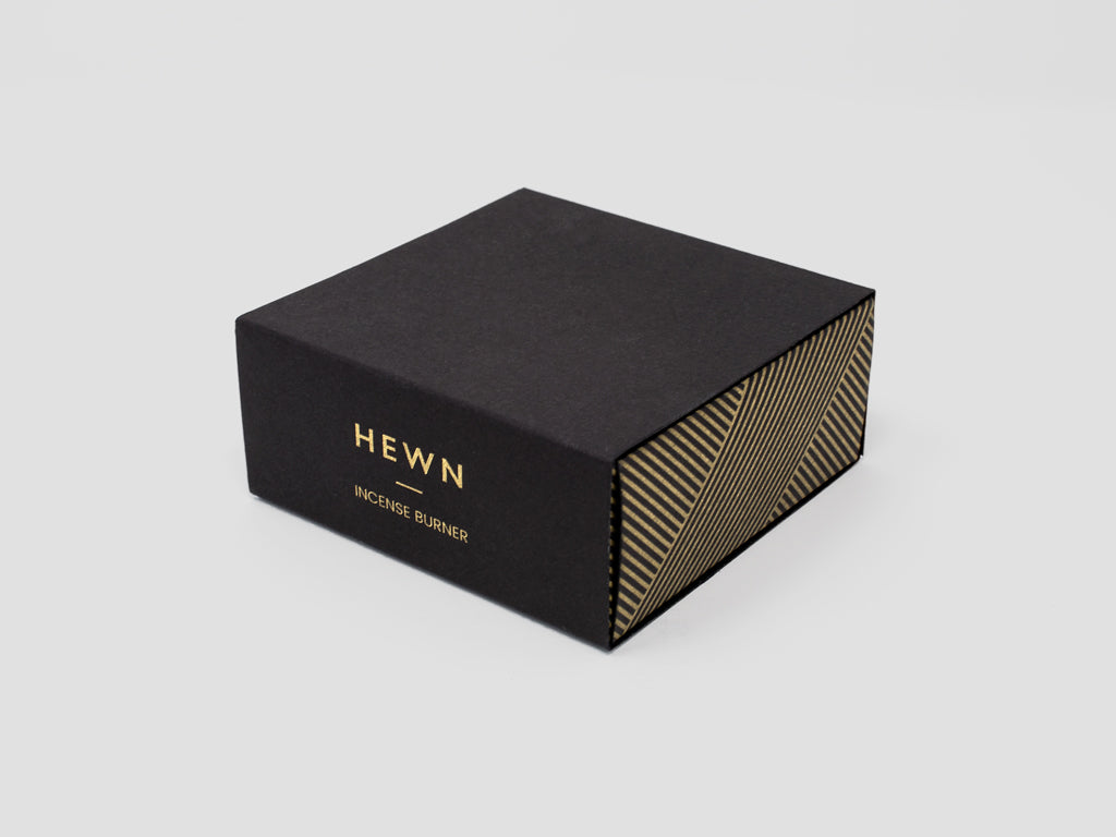 HEWN Brass Incense Burner Packaging