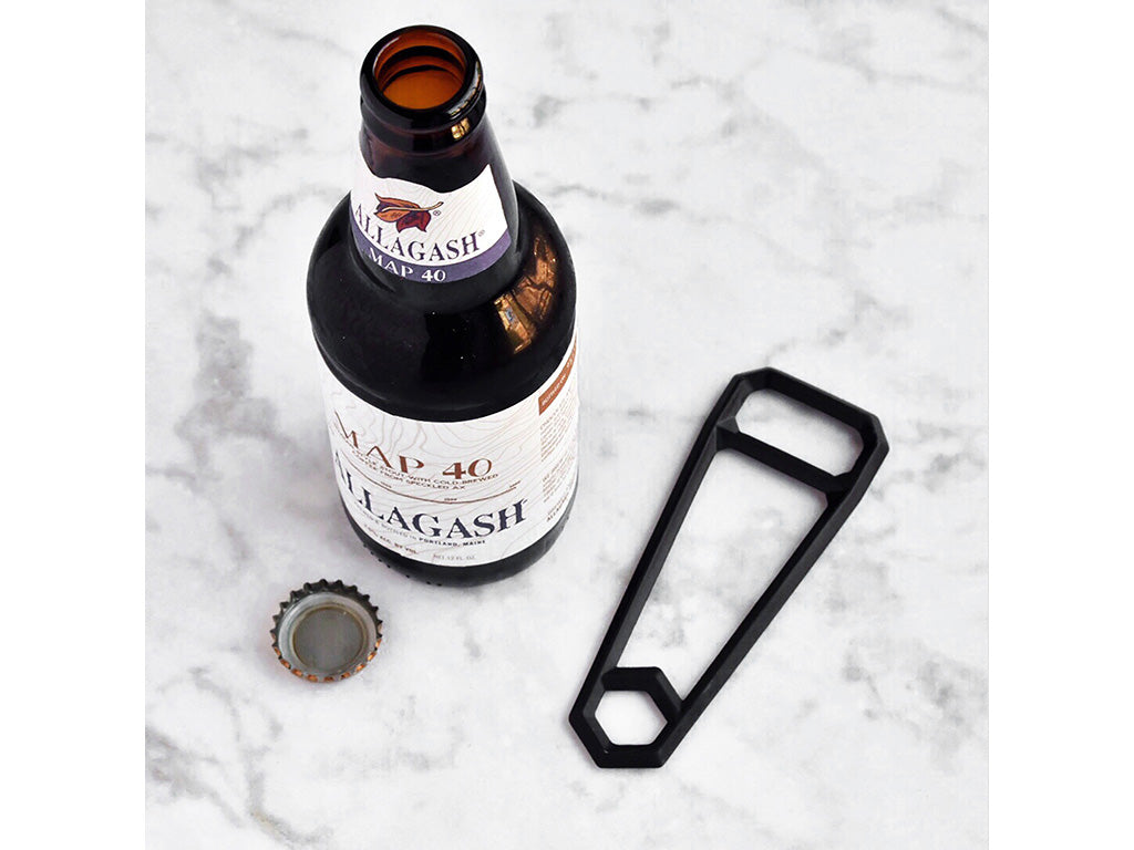 HEWN Leverage Bottle Opener in Blackened Brass