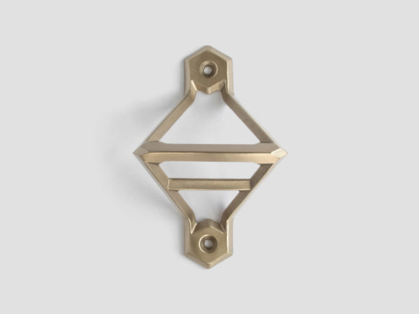 HEWN Leverage Wall-Mounted Bottle Opener in Satin Brass