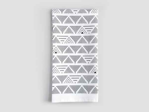 HEWN Lines and Dots Linen Tea Towel in Black
