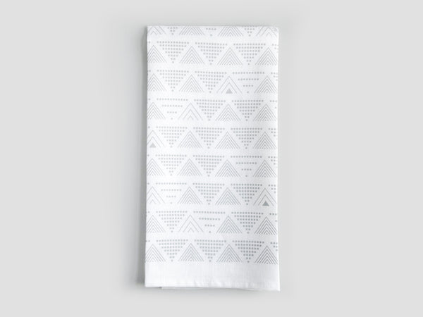 HEWN Lines and Dots Linen Tea Towel in Grey